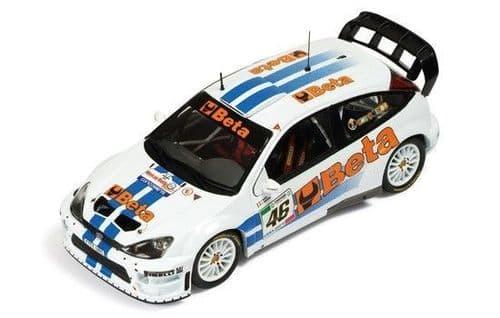 MINICHAMPS 400 078446 - Ford Focus WRC - Beta - Rossi/Cassina - Mo